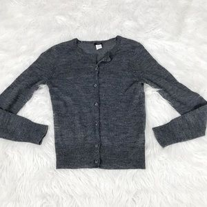 J Crew Gray Bling Button Alpaca Wool Cardigan